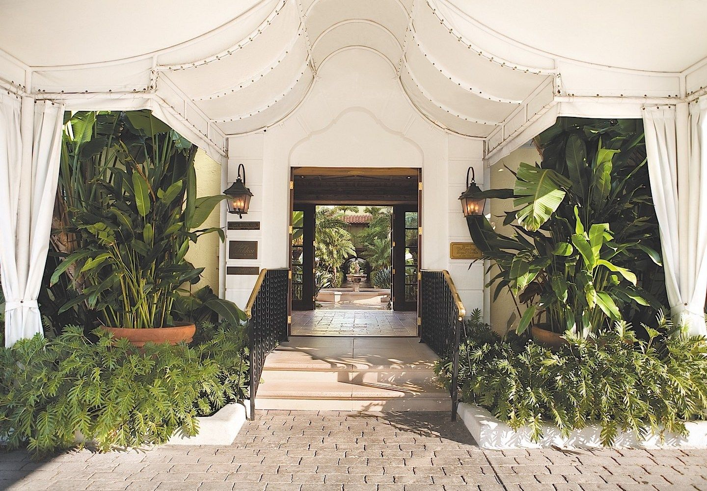 Entrance at The Brazilian Court Palm Beach Canopy