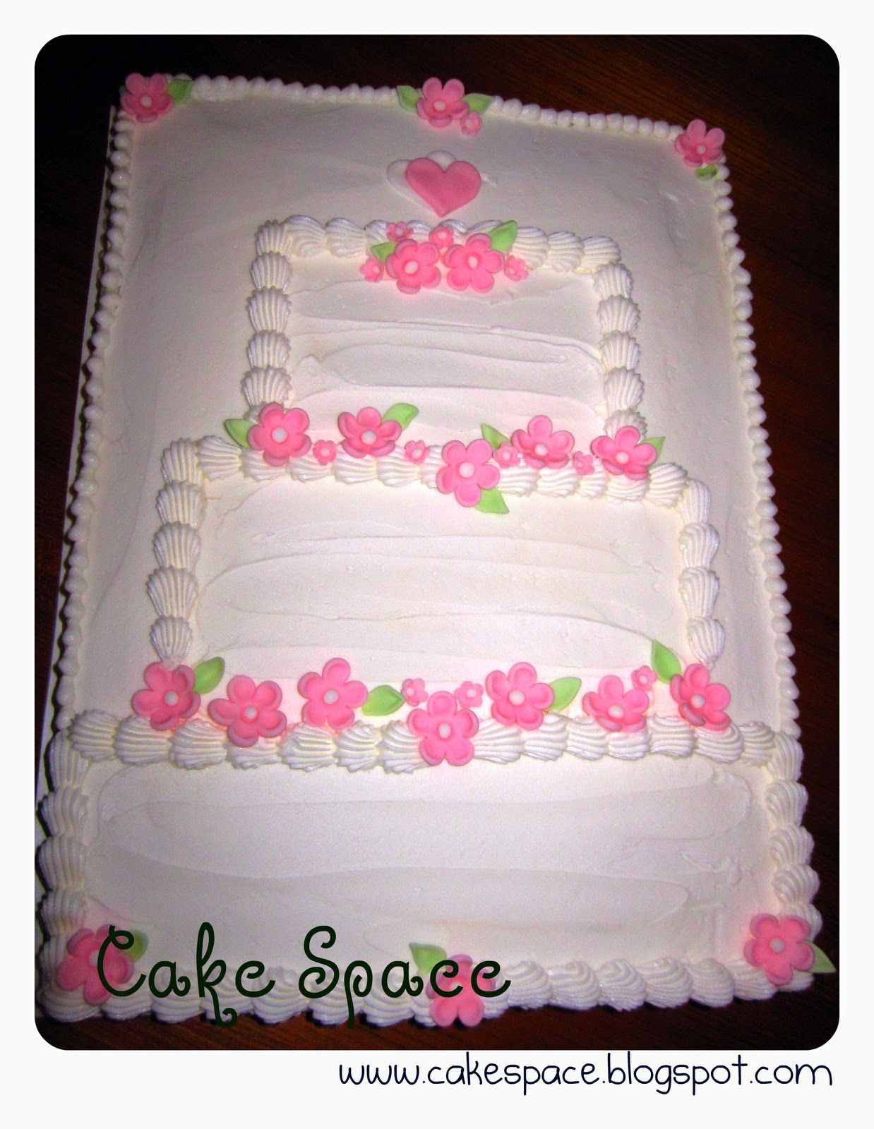 sheet cakes with shoes on them | Wendys Cake Space: Bridal Shower ...