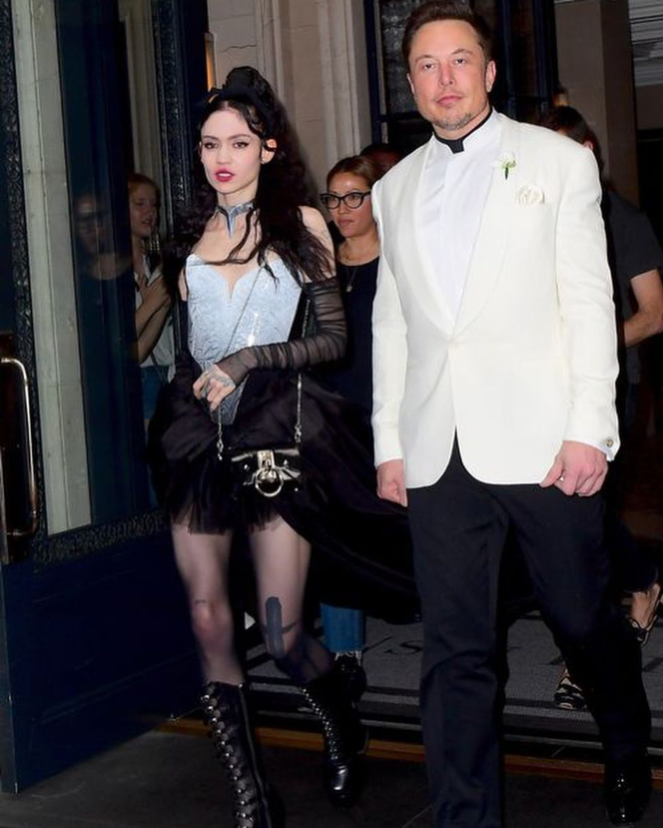 Grimes and Elon Musk at Met Gala 2018 | Claire Boucher