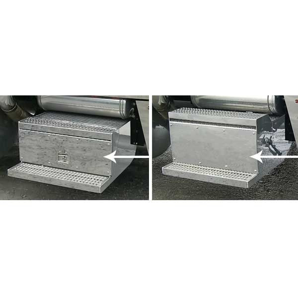 Tool Box Covers >> Peterbilt 379 Battery Box And Tool Box Covers Covered