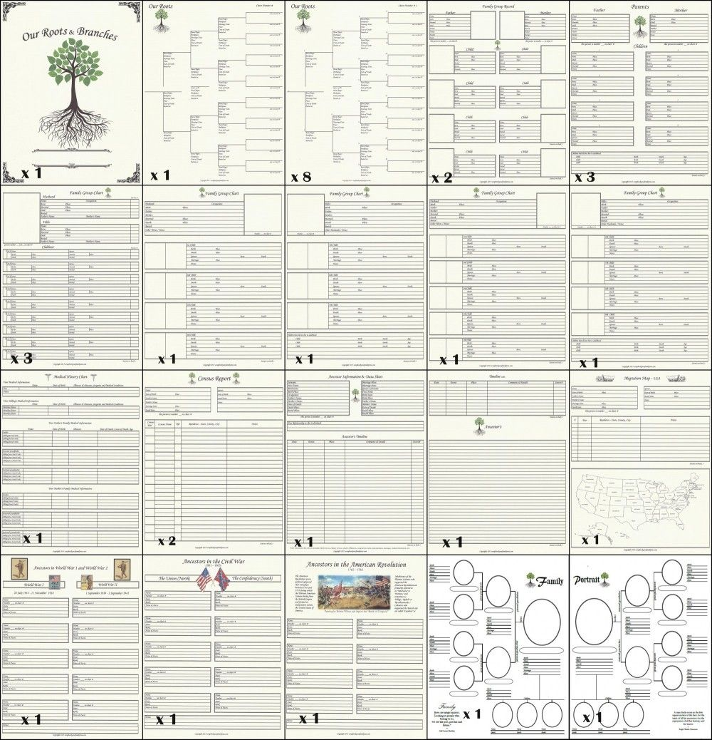 How to scrapbook your family tree - By Scrapbook Your Family Tree A Basic 8 5 X 11 Genealogy Chart Collection