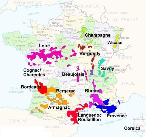 France wine map bourbon studio pinterest wine for Champagne region in france