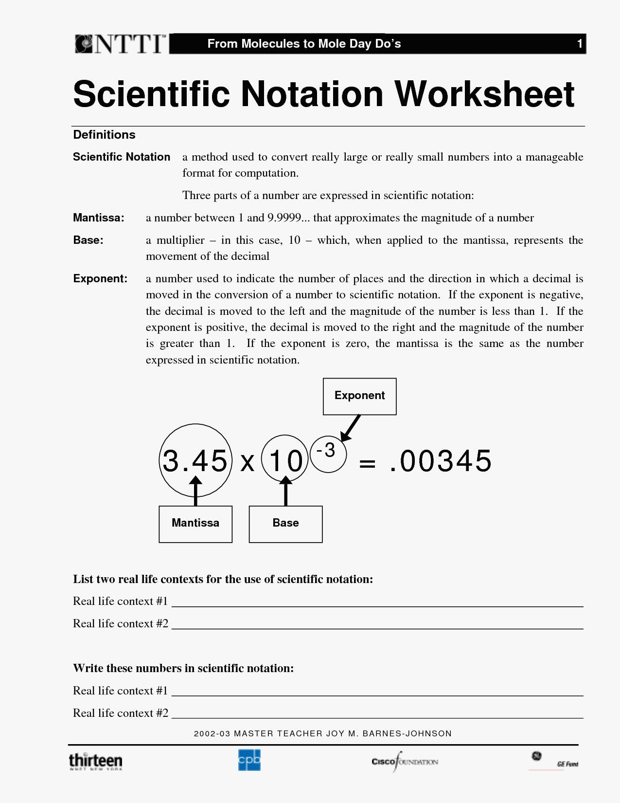 42 Clever Scientific Notation Worksheet Ideas