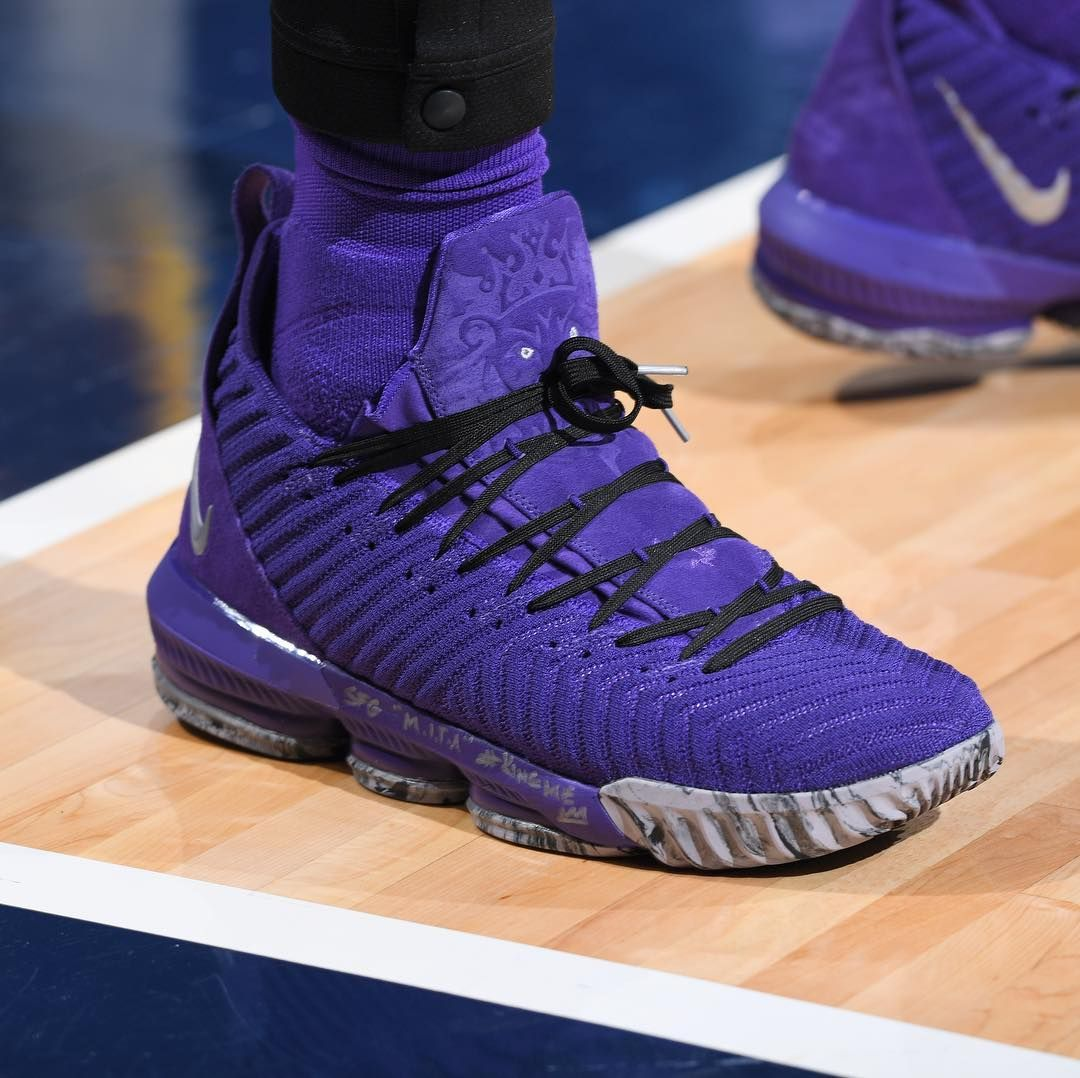 "low priced 39d5b 2c836 Bleacher Report Kicks on Instagram: ""@KingJames in a purple ..."