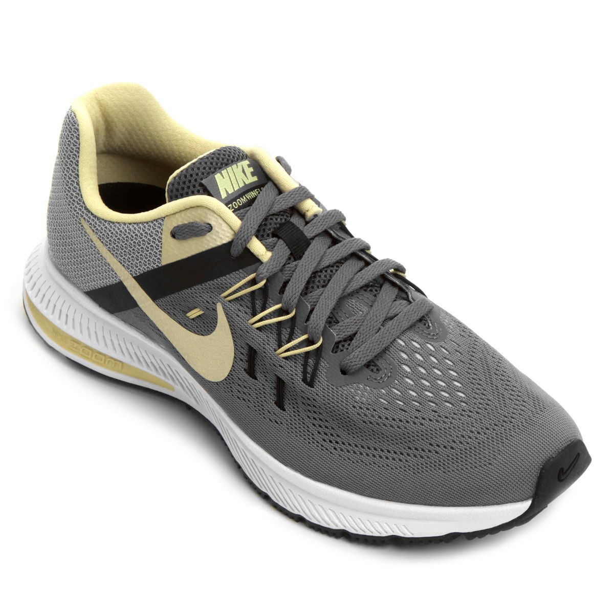 9ec633bc66 Tênis Nike Zoom Winflo 2 Masculino - Cinza e Amarelo | Sapatos ...