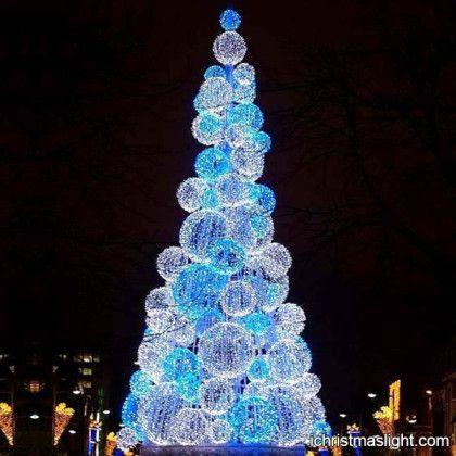 Blue and white ball unusual christmas trees   Modern Christmas Trees ...