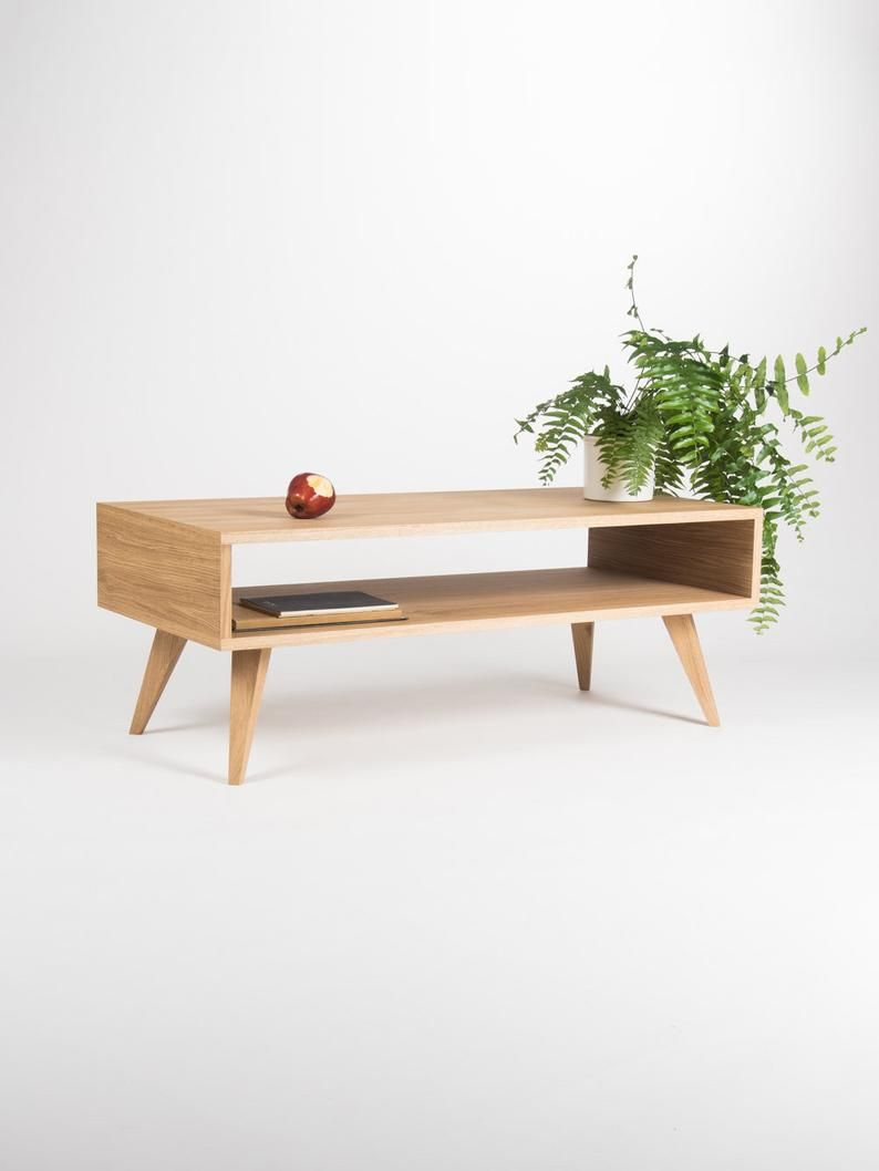 Mid Century Modern Coffee Table Box Sofa Table Made Of Oak Etsy Decoracao Moveis De Pinus Moveis Decoracao [ 1058 x 794 Pixel ]
