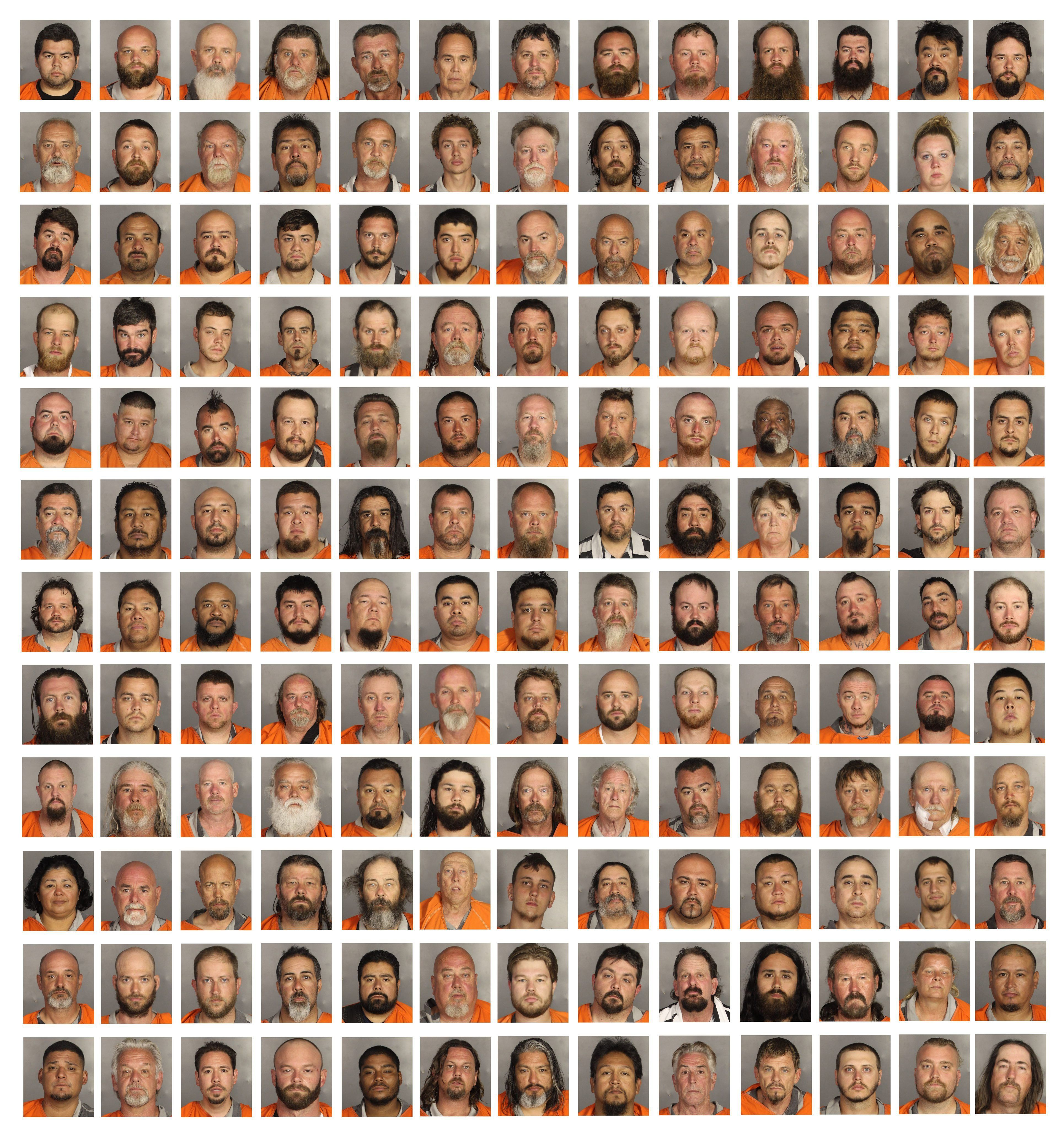 See Dozens Of Mugshots From The Waco Shootout In One Image - Us counties mugshots