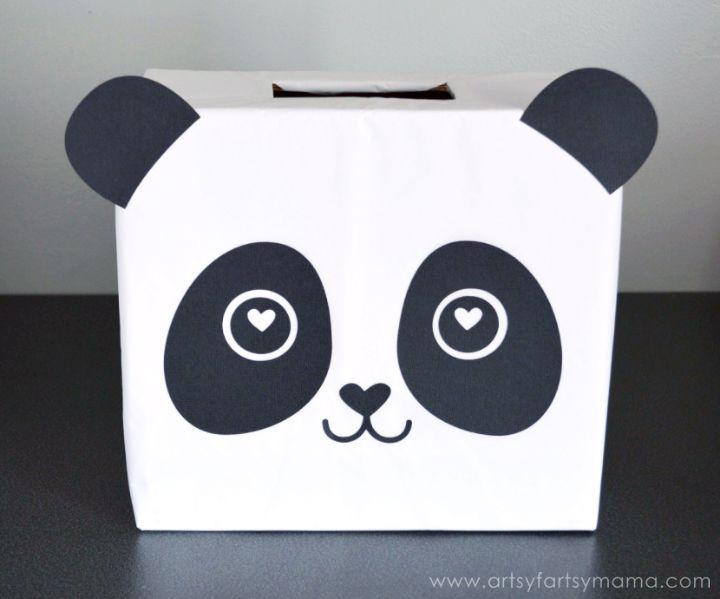 Panda Valentine Card Box  Panda Box and Holidays