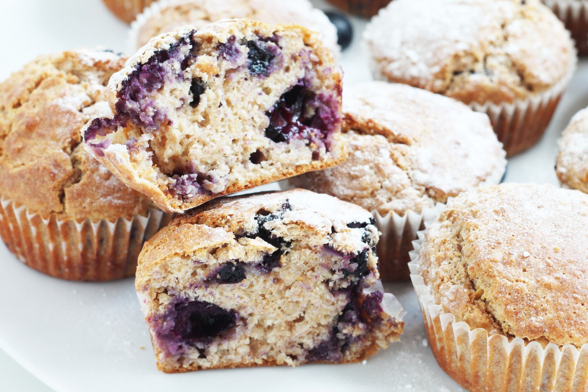 dinkel blueberry muffins blaubeermuffins ohne zucker butter gesund s essen pinterest. Black Bedroom Furniture Sets. Home Design Ideas