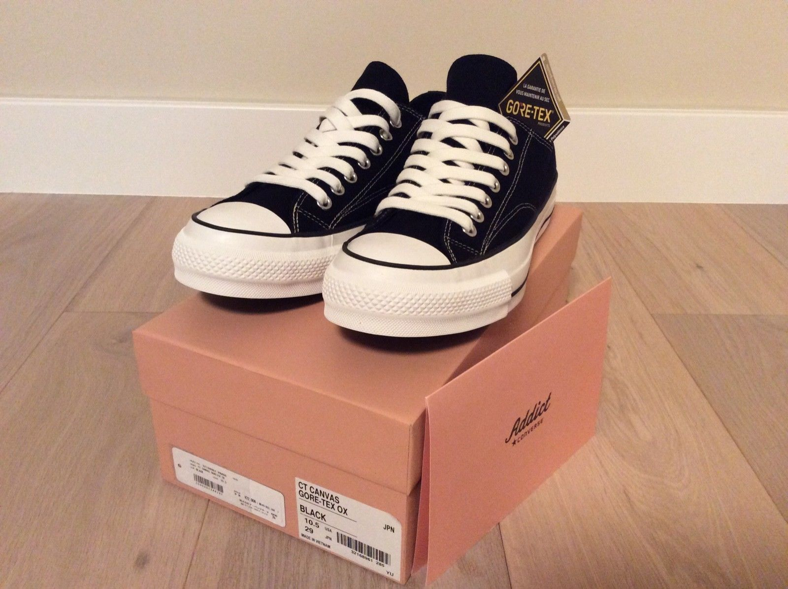 e3c3d932e6c CONVERSE ADDICT CHUCK TAYLOR CANVAS GORE-TEX OX US UK 10.5 JAPAN 70 NIGO JP