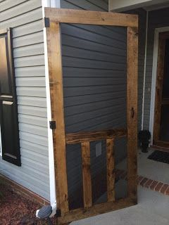 Screen Door Made From Pallets Pallets Diy Screen