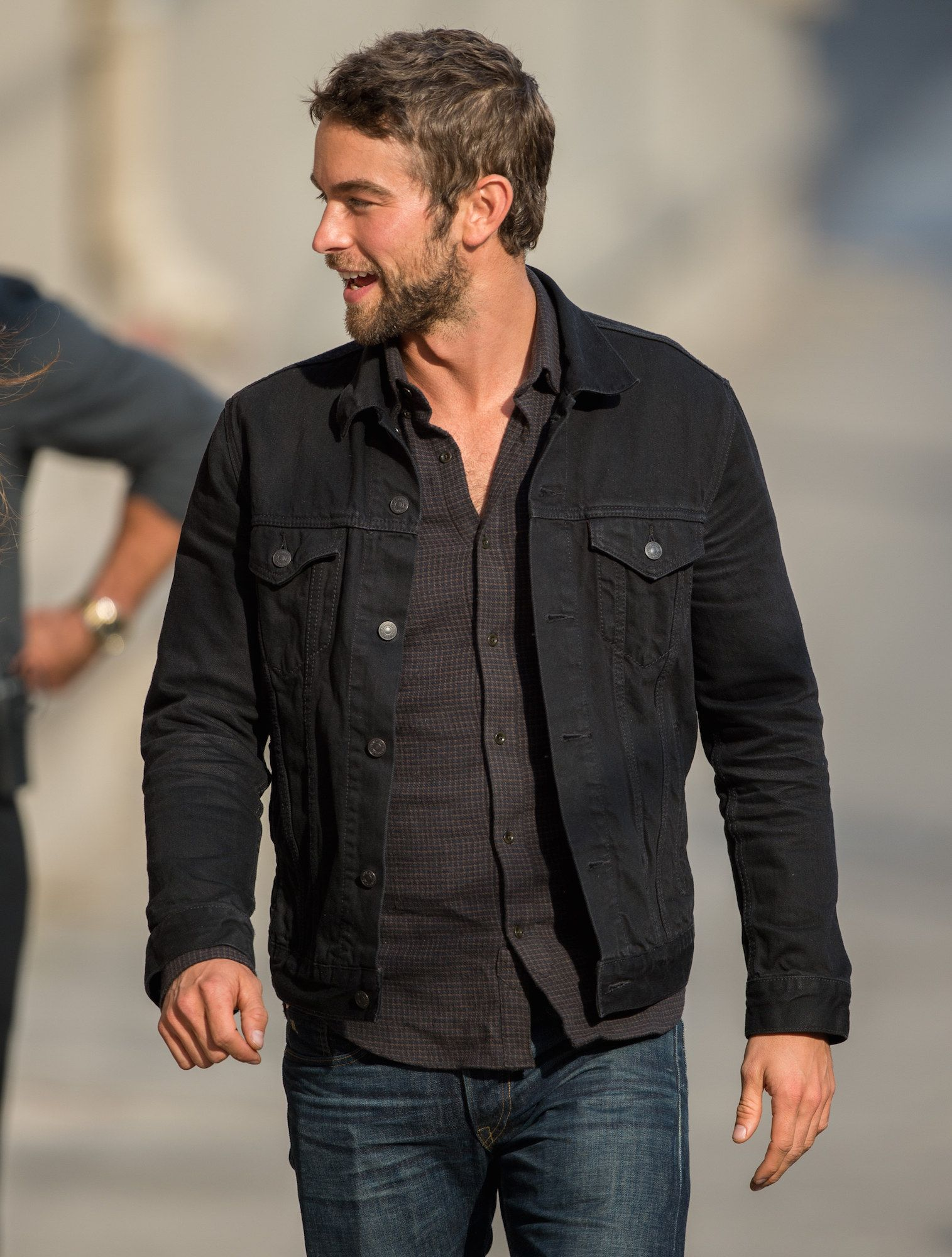 The Denim Jacket You Can Wear Out At Night Black Denim Jacket Men Black Denim Jacket Outfit Black Denim Jacket