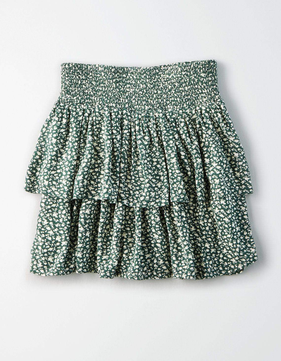 Floral Mini Skirt Vintage Button Down Mini-Skirt Floral Button Through Short Skirt Flower Print Vintage Mini Skirt Button Up Floral Skirt