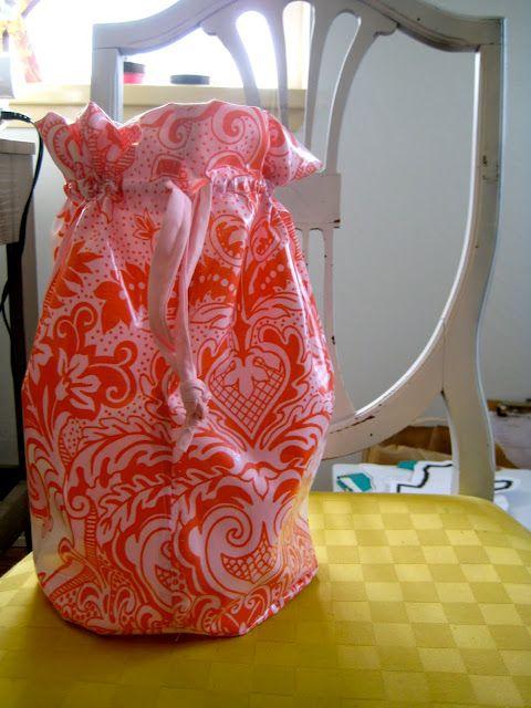 sewing tutorial ((drawstring toiletries bag))