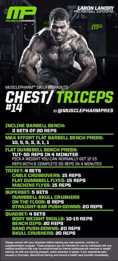 Chest/triceps | MusclePharm Workouts | Back on Point ...