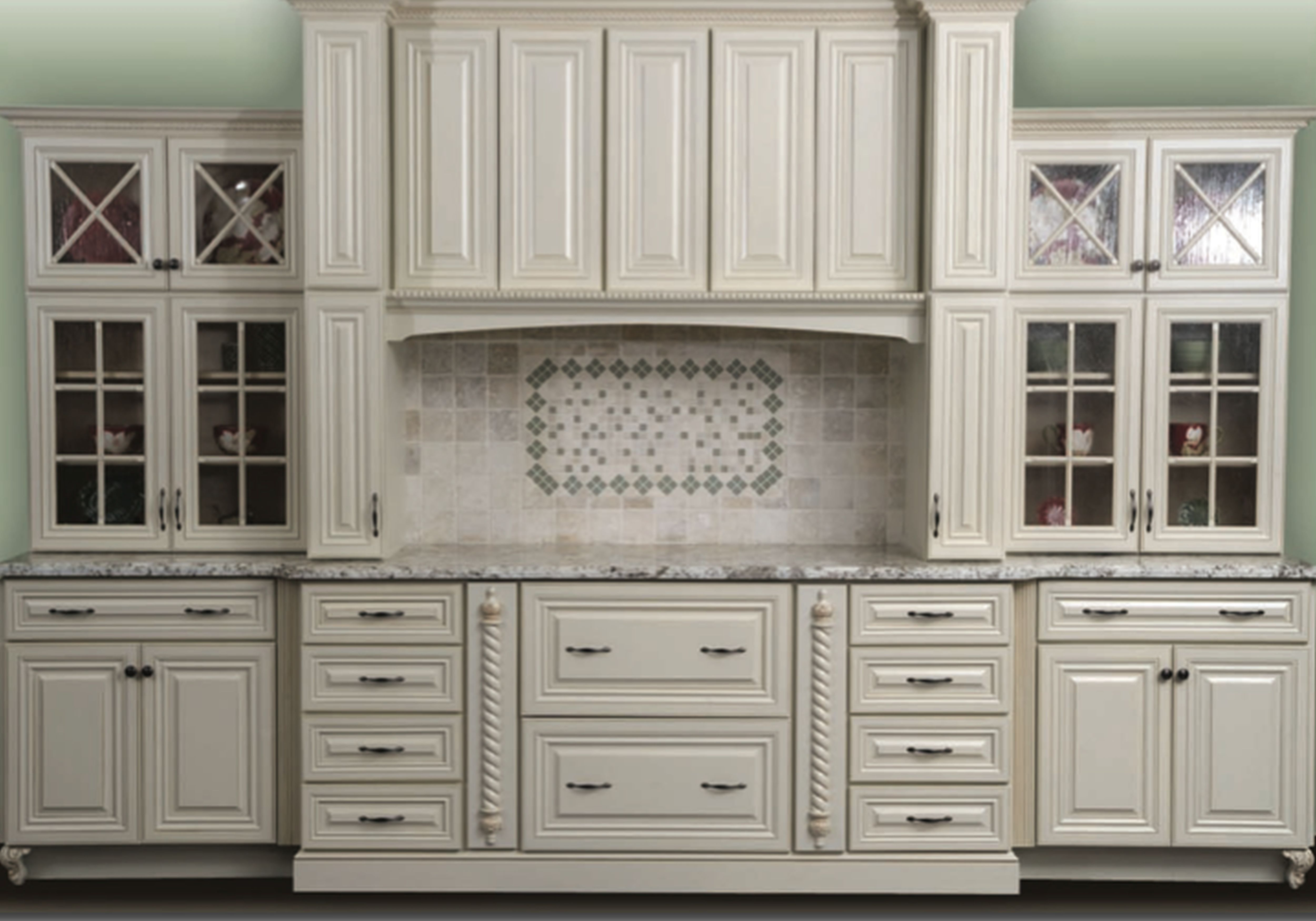 North American Maple Antique White Glaze Kitchen Cabinets With Glass Doors Antique Kitchen Cabinets Antique White Kitchen Kitchen Cabinet Trends