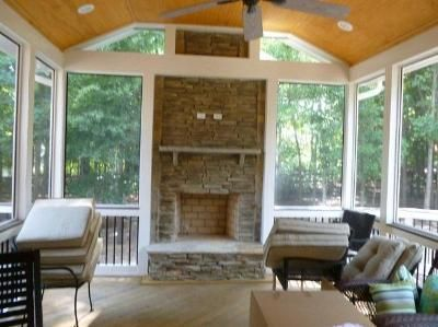 porch with fireplace charlotte screen porch with inclusive outdoor rh pinterest com screen porch fireplace cost screen porch fireplace ideas