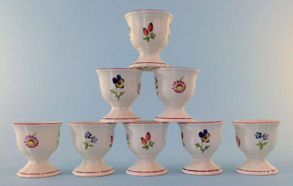 Set of 2 Villeroy /& Boch Petite Fleur Breakfast Cups and Saucers