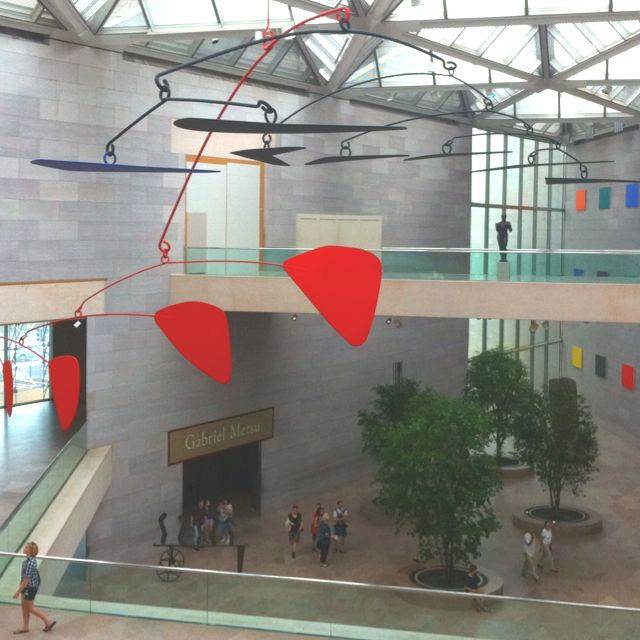 Modern Architecture Washington Dc giant calder mobile, national gallery, modern museum of art