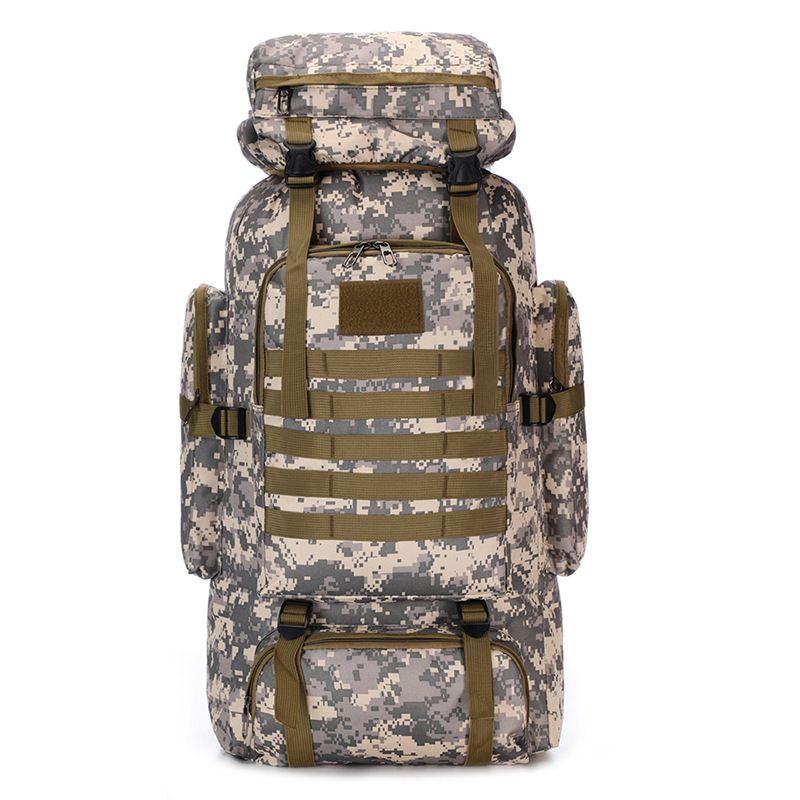80L Outdoor Military Rucksack Tactical Backpack Camping Travel Shoulder Bag Tote