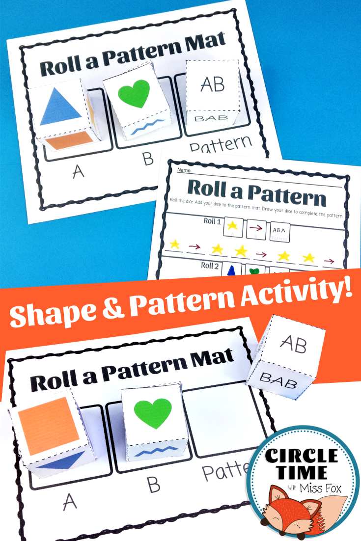 Shape And Pattern Activity For 1st And 2nd Grade Use Picture Dice To Create Ab And Aab Abb Pat Aab Patterns Pattern Activities Kindergarten Pattern Activities [ 1102 x 735 Pixel ]
