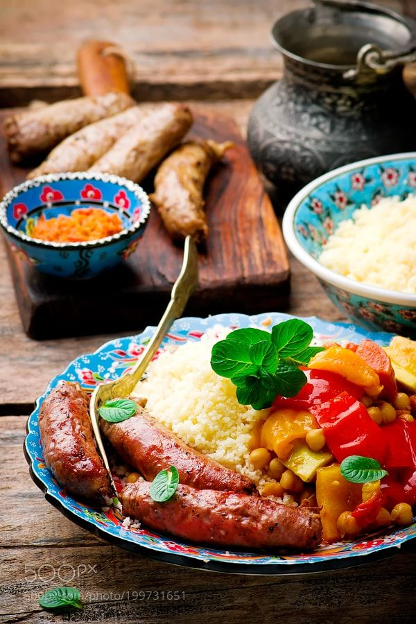 Couscous and Merguez Sausages by zoryanchik76 from http://500px.com/photo/199731651 - . More on dokonow.com.