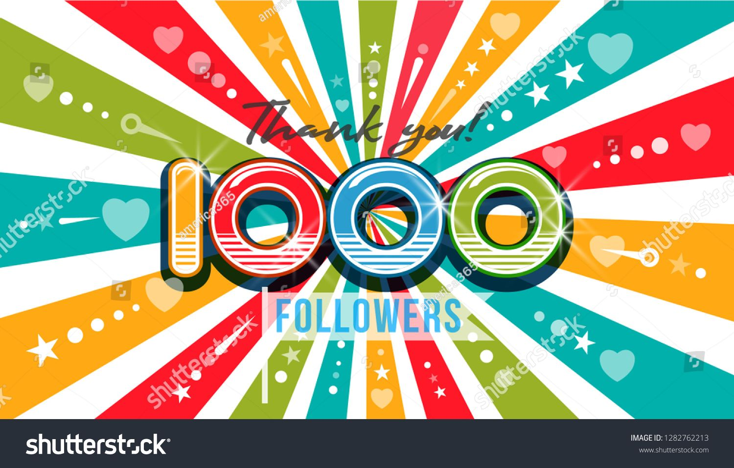 1000 One Thousand Followers Thank You background