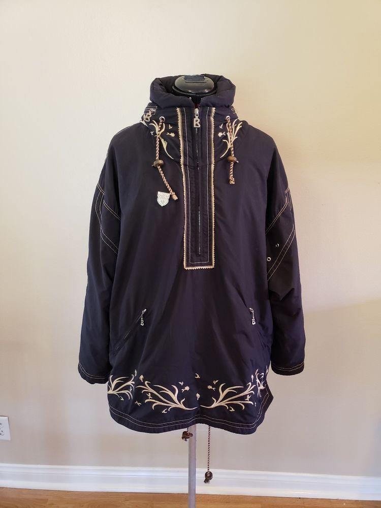 outlet store buying cheap great deals 2017 Vintage Bogner Mens Black Embroidered Ski Pullover Jacket SZ ...