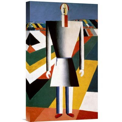 Global Gallery Farmer In The Field By Kazimir Malevich Graphic Art On Wrapped Canvas Kazimir Malevich Malevich Suprematism