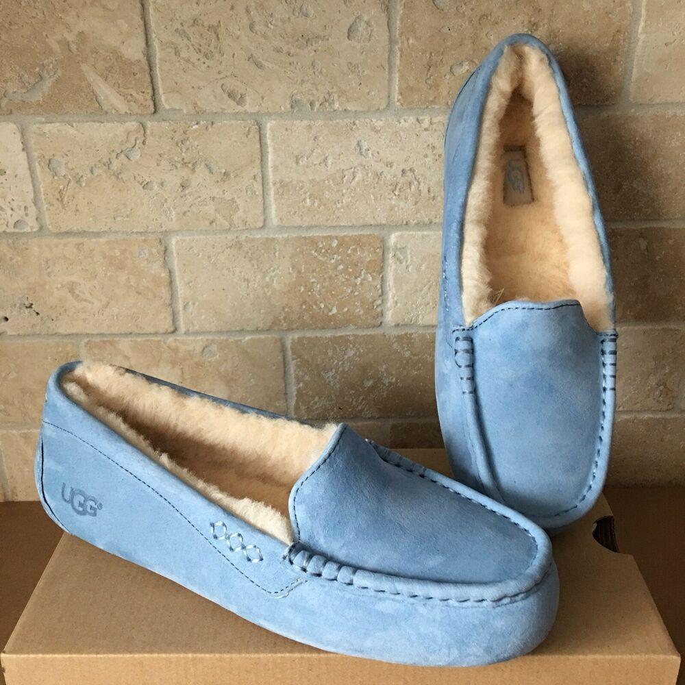 d8ca3da0cfd eBay Advertisement) UGG Ansley Horizon Blue Suede Moccasins Slippers ...