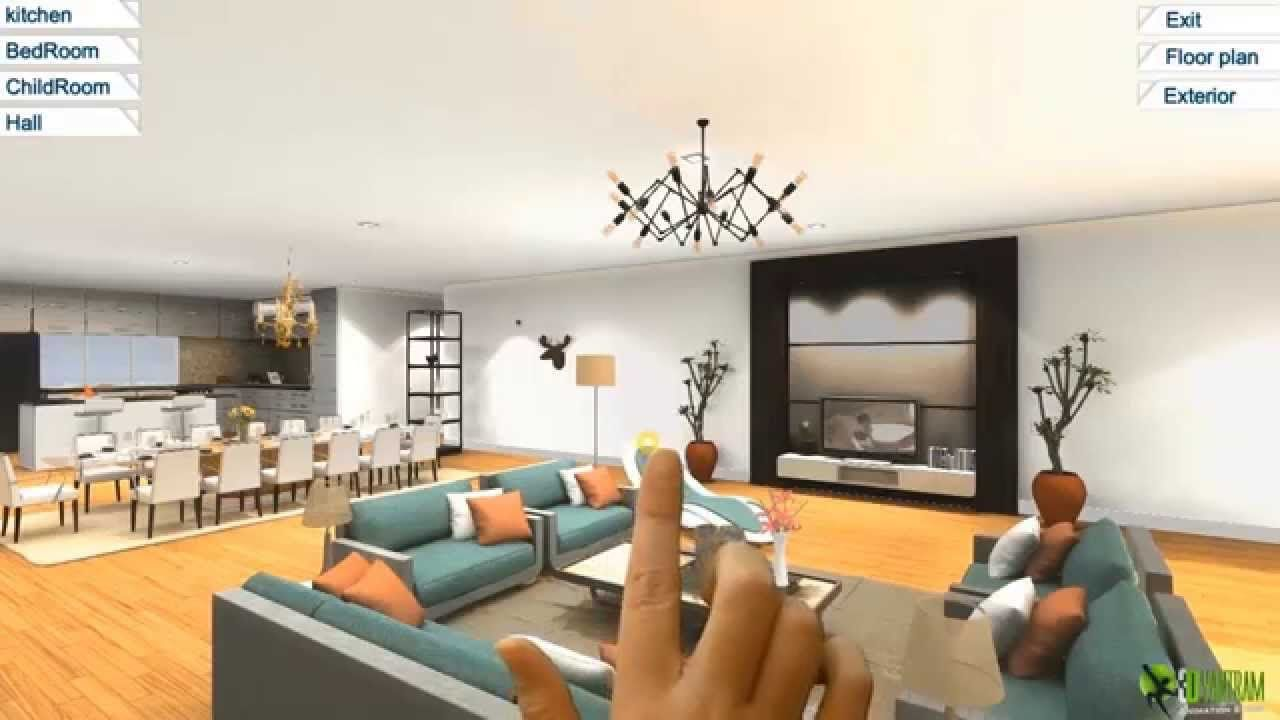 360 Virtual Reality Interior Application Experience For Touch
