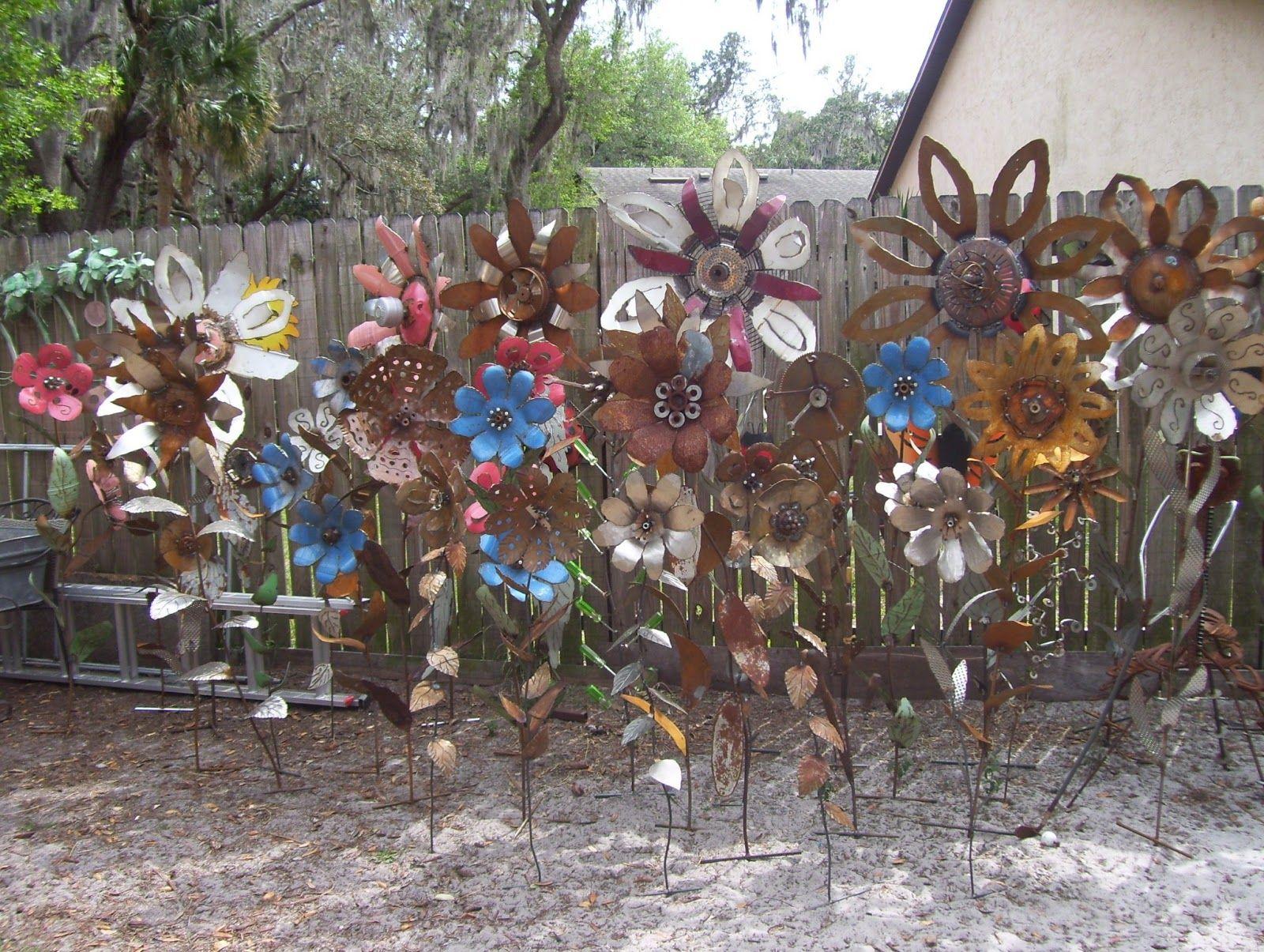 Plasma Cut Metal Flowers   Metal Garden Art Flowers
