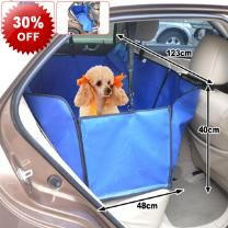 123cm Length Pet Dog Cat Car Seat Cover Hammock - 2 Storage Pockets - Waterproof & Rip Resistant