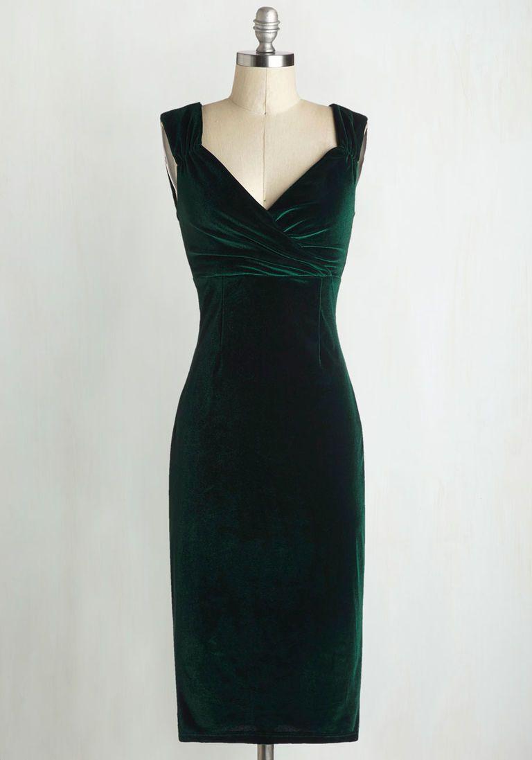 Lady love song velvet dress in emerald green dresses pinterest