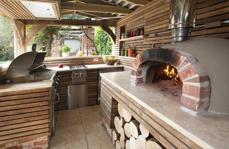 garten-pizzaofen-party-bereich-grill-theke-bar Garten Pinterest - pizzaofen mit grill