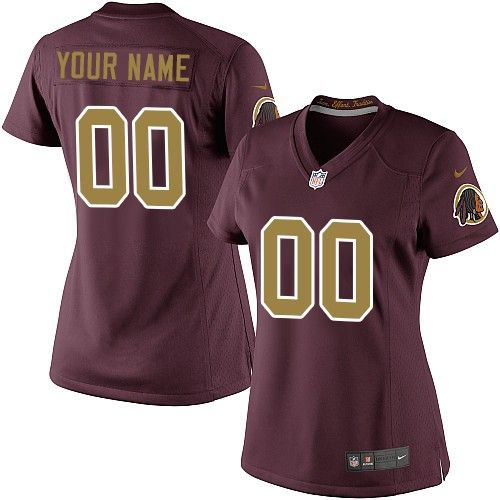 Nike Limited Burgundy Red Women s Jersey - Customized Washington Redskins  NFL 80th Anniversary Alternate c21e2f4ee
