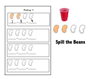 Spill The Beans Addition Game Pre Kindergarten Math Math