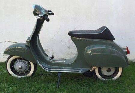 Vespa Primavera 125 Lackierung Ral 7009 Grungrau Vespa Scooter