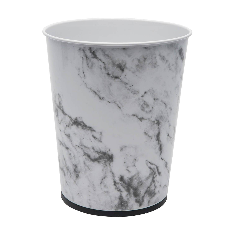 Download Wallpaper White Marble Effect Kitchen Bin