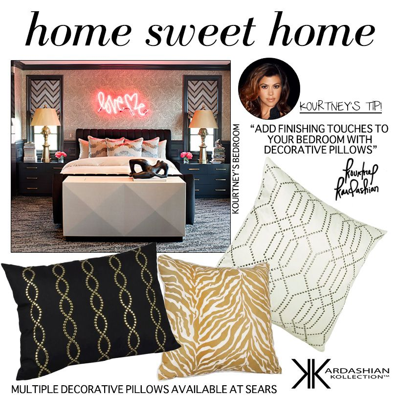 Shop Kardashian Kollection Decorative Pillows At Sears Fascinating Sears Decorative Pillows