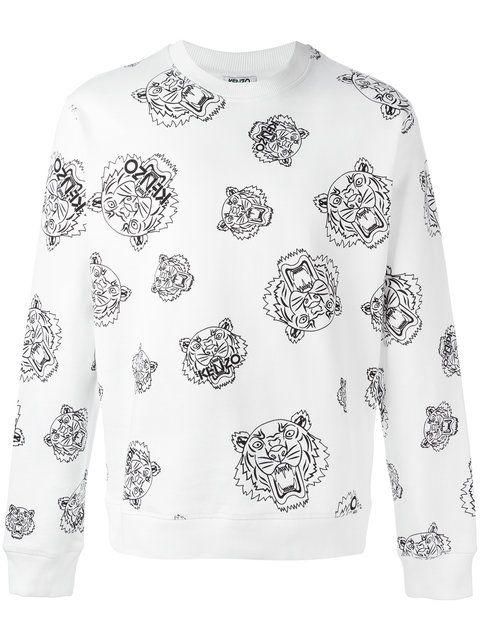 KENZO multi tiger sweatshirt.  kenzo  cloth  虎头印花套头衫  6fe3a51cca6b7