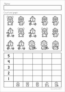 winter preschool no prep worksheets activities my tpt products kindergarten math. Black Bedroom Furniture Sets. Home Design Ideas