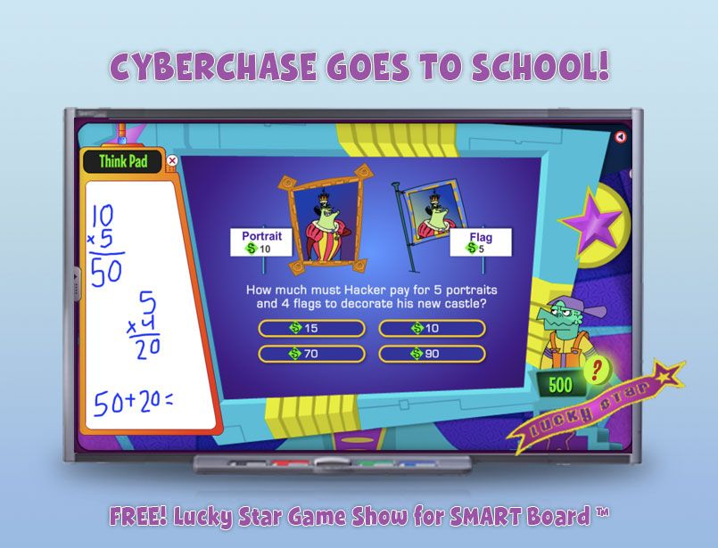 Make your own game with Cyberchase FREE Lucky Star Game