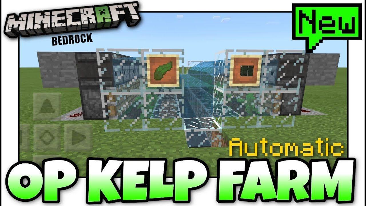 Minecraft Easy Kelp Farm Automatic Tutorial Mcpe Xbox Bedro Minecraft Minecraft Construction Minecraft Plans