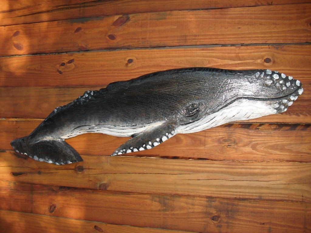 Wooden Whale Wall Art humpback whale sculpture 4ft. chainsaw wooden whale carving
