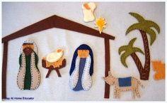 photograph about Printable Nativity Scene Patterns named totally free printable nativity scene behaviors Felt Nativity Tale