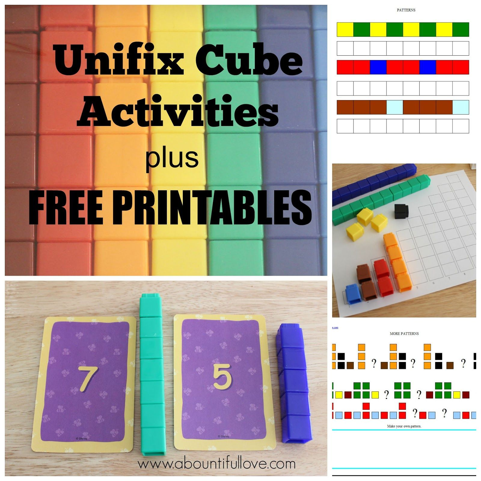 Unifix Cubes Activities Plus Free Printables Unifix Cube