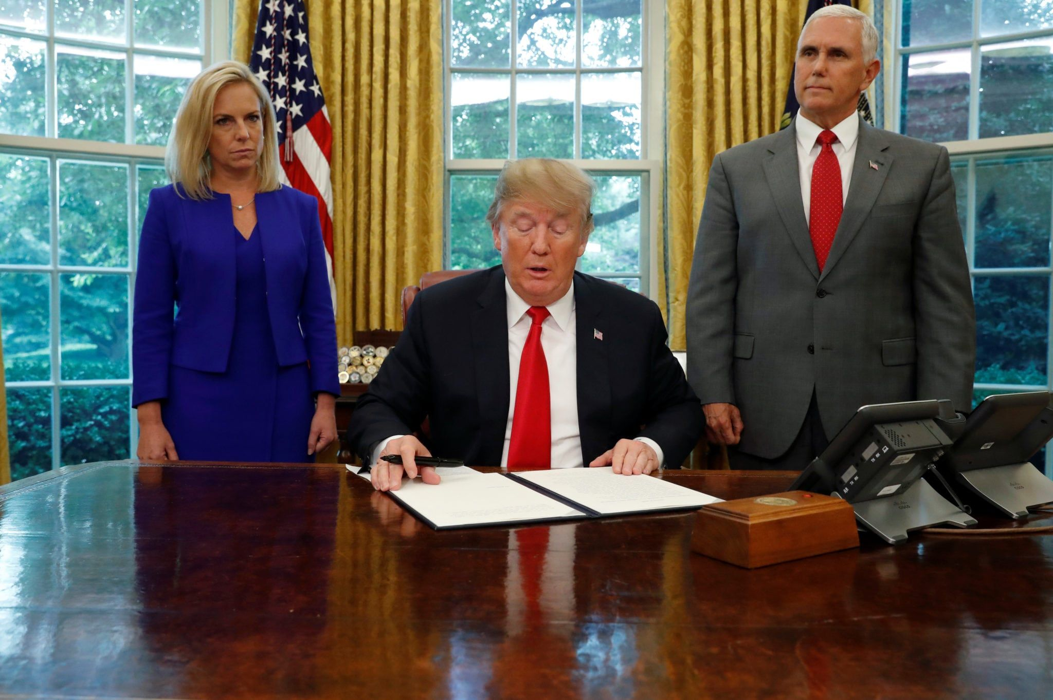 Faces Of Defeat As Trump Undoes His Separation Of Children