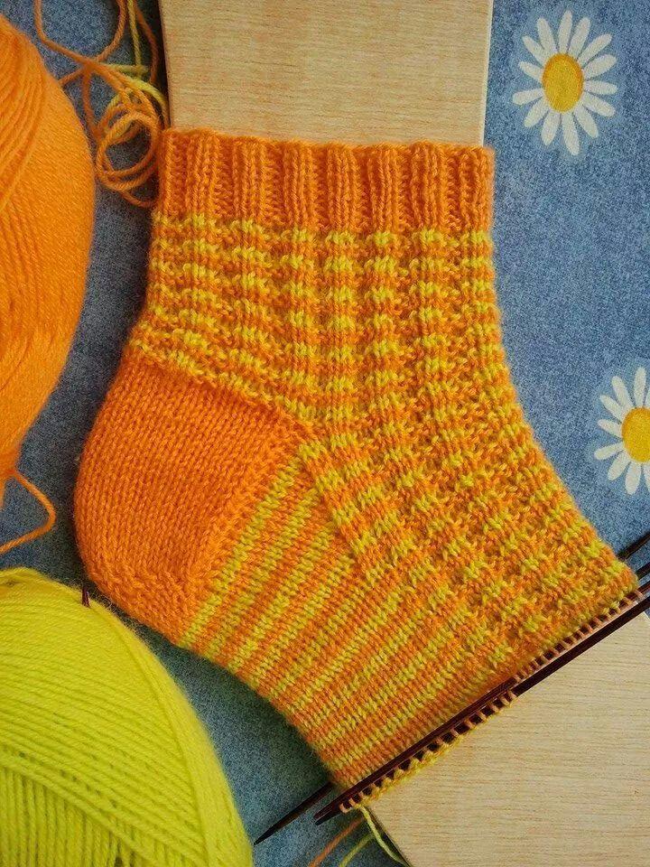 Zimtwaffelmuster Zweifarbig Socken Stricken Socken Stricken Muster Handstulpen Stricken
